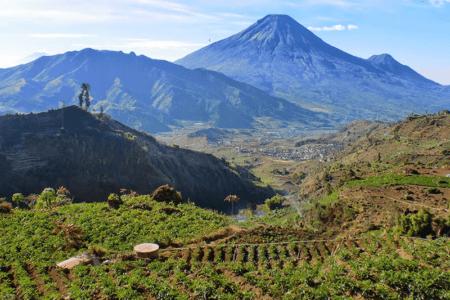 Vue sur le volcan Butak à Java