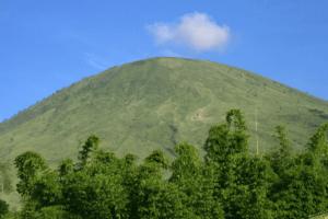 Le mont Guntur Un des nombreux volcans à Java