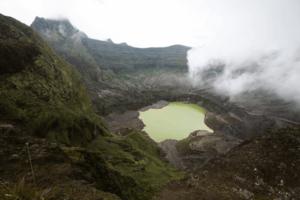 Cratère du volcan Kelud à Java