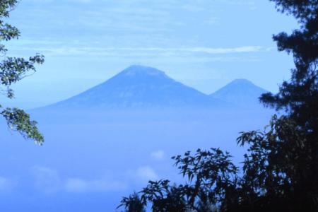 Le volcan Papandayan à Java