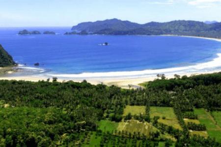 La plage de Plengkung à Java