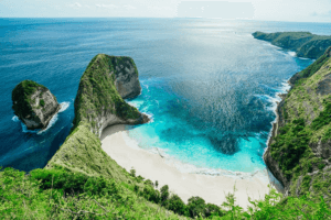 Plage de Kelingking à Nusa Penida