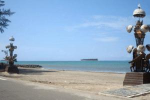 La plage de Gandoriah sur l'île de Sumatra
