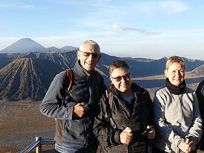 Touristes au mont Bromo à Java